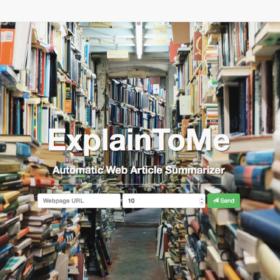 Explaintome - помощник для чтения большиз статей - Мои заметки