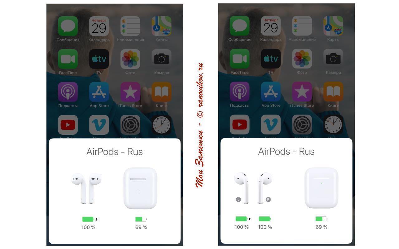 Все фишки AirPods второго поколения заряд-1 - Мои заметки