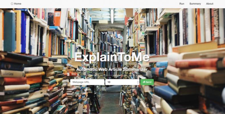 ExplainToMe − помощник для чтения больших статей